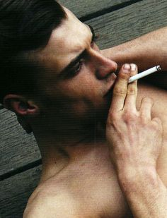 Sexy male smoking fetish could not