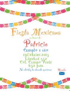 Invitación para Fiesta Mexicana [1 solo lado]