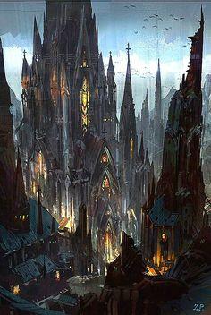 Pin by Michael Purvy on Dystopian Art Fantasy landscape Fantasy art Fantasy city