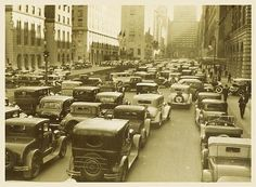 Park Avenue in 1922.  I love all the old cars!