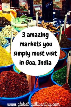 Goa has much more to offer than just tropical beaches. Shopping and haggling at Goa's colourful markets is a must. Here are 3 of the best markets in Goa. Goa Travel, India Travel Guide, Travel Tips, Travel Destinations, Paris Travel, Travel Guides, Goa India, India Trip, South India