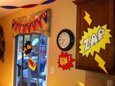 Super Hero Party decorations!