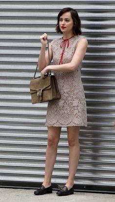 Cine Farandulero: Dakota Johnson en el desfile de Gucci en Nueva York