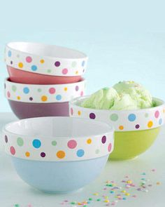 dii tea party mixing bowls set of 3 punkt pastell und keramik. Black Bedroom Furniture Sets. Home Design Ideas