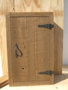 Rustic Pine Recessed Wall Medicine Cabinet,  All Wood,  Adjustable shelves.   In…