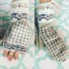 New fingerless mittens from @frenchknotstudios So warm and fuzzy  #mittens #warm #wool #fall #winter #fashion #shopping #accessories