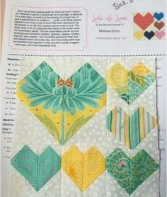 Block 3 designed by Melissa Corry: Lots of Love