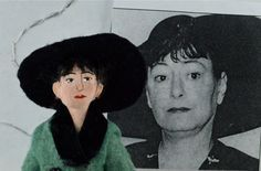 Dorothy Parker Writer Doll Miniature Satire by UneekDollDesigns, $47.00
