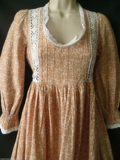 Vintage Laura Ashley Neo Victorian Bohemian Prairie Summer Maxi Dress 6 8 10   eBay