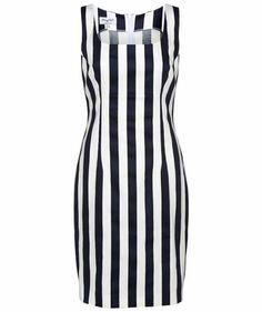 Piú & Piú - Damen Kleid #dress #blacknwhite #stripes