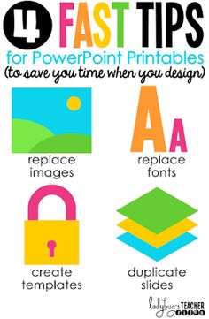 4 Fast Tips for PowerPoint Printables (To Save You Time When You Design) | Ladybug's Teacher Files (guest post on Blog Hoppin')