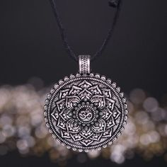 FREE Stunning OM Mandala Necklace in Silver or Bronze