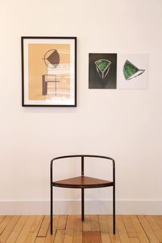 """Fin Chair is a minimalist chair created by Jean and Oliver Pelle of PELLE, and antique dealer and jewelry designer Russell Whitmore of Erie Basin. The Fin Chair is a mahogany and blackened steel chair that features a broad """"fin"""" as its central detail. The structural frame, seat and silhouette of the chair offer an unusual combination of elements, joining the austerity of a simple steel frame with the rich warmth of premium wood. The seat is made of a Honduran mahogany that is polished and…"""