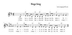 Bingo Song Music Sheet / Score