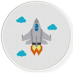 FREE for Jan 25th 2016 Only- Fighter Jet Cross Stitch Pattern