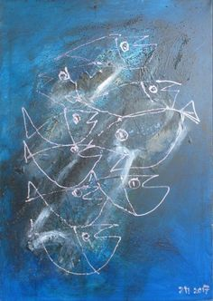 Buy blue Fishes, Oil painting by Sonja Zeltner-Müller on Artfinder. Discover thousands of other original paintings, prints, sculptures and photography from independent artists.
