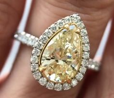 Yellow Diamond Rings, Diamond Are A Girls Best Friend, Diamonds, Gems, Engagement Rings, Crystals, Jewelry, Jewels, Enagement Rings