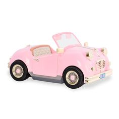 Our Generation In the Driver Seat Retro Cruiser - Pink Convertible for Dolls - Site Title Last Minute Christmas Gifts, Christmas Gift Guide, Poupées Our Generation, Baby Alive, Retro Cars, 18 Inch Doll, Kind Mode, Girl Dolls, Og Dolls