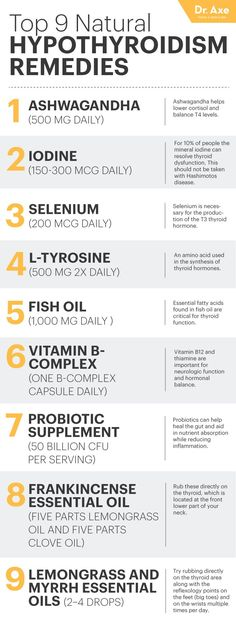 Be careful with #2 too much iodine can have a negative affect.