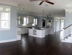 Open Floor Plan for kitchen and Living Rooms