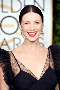 Pin for Later: 7 Red-Carpet-Ready Lipsticks You Should Add to Your Stash Caitriona Balfe, Golden Globes