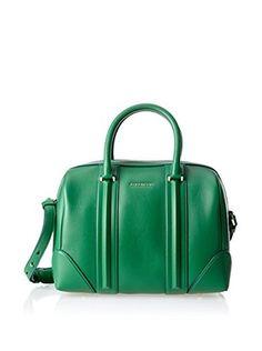 Givenchy Women's Medium Lucrezia Satchel, Emerald Green