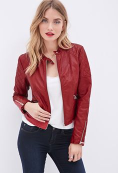 Quilted Faux Leather Jacket | FOREVER21 - 2000119546