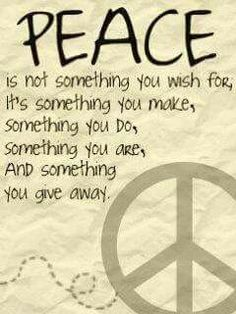 Peace •~• give it away