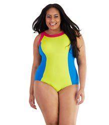 e3bb3363ecbb4 AquaCurve Tank Suit by JunoActive. Shop high performance plus size  swimwear, activewear, and
