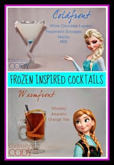 Disney Cocktails: Elsa and Anna FROZEN Inspired Drinks -- Disney Sisters