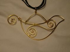gold wire bird for mobile
