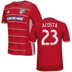 Kellyn Acosta 23 FC Dallas 2016/17 Home Soccer Jersey Red