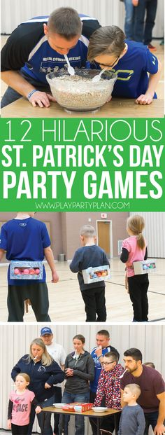 These hilarious St. Patrick's Day games are fun for kids or adults! Play them as minute to win it games or play them just as regular old party games for some of the most hilarious St. Patrick's Day activities ever!