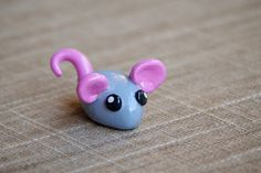 Miniature Handmade Polymer Clay Animal: Little Mouse
