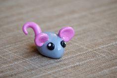 Miniature Handmade Polymer Clay Animal: Little Mouse
