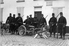 An icon of the Belgian Army in WWI, the Dog Cart - http://www.warhistoryonline.com/war-articles/icon-belgian-army-wwi.html