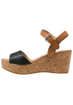 Sandales � plateforme - noir