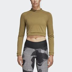 All Day I Dream About Sweat! ADIDAS Tights Look ridiculously fab & fit in these tights and cropped long-sleeve tee! Long Sleeve Crop Top, Long Sleeve Shirts, Black Bikini Bottoms, African Wear, Pink Adidas, Athletic Fashion, Crop Tee, Adidas Women, Gym Shorts Womens