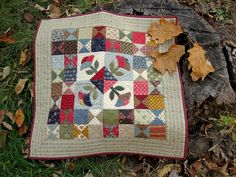 Clarissa's Garden doll quilt by Kathleen Tracy. Pattern at www.countrylanequilts.com