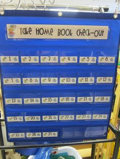 What Happens in 2nd Grade...: Classroom Tour!: Take home book Check Out. Great way to keep track of which classroom books are where!