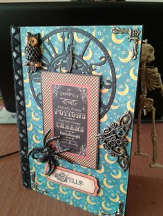 Fab Steampunk Spells altered book box by my mother in law and fellow graphic 45 addict. Ready to grace my mantle this Halloween.
