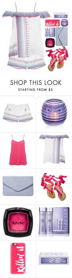 """13.07.17-2"" by malenafashion27 ❤ liked on Polyvore featuring Lemlem, Dartington Crystal, American Vintage, Dorothy Perkins, NYX, Alterna, Casetify and LEXON"
