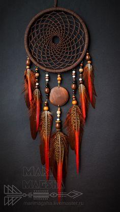 "°Navaho DreamCatcher by MariMagsha ~ Купить Ловец снов ""Навахо"" - коричневый, ловец снов, ловец сновидений, ловец снов оберег"
