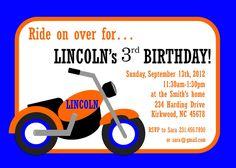 Motorcycle Birthday Invitation CUSTOM to any color by ktozdesign
