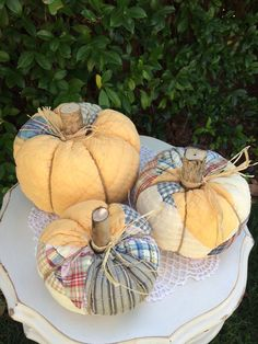 Pumpkin made from Vintage Cutter Quilt Large by IttyBittyCottage
