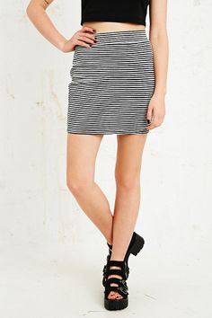 Sparkle & Fade Ribbed Miniskirt in Monochrome  urban outifitters / uo