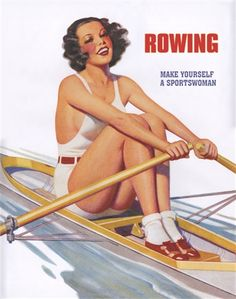 I guess this is what women are suppose to look like when rowing...yeah right, not if you want to win.