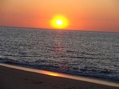 Art's Dune Tours: Setting sun at the end of our tour. Cape Cod is one of the only places on the East Coast sunset
