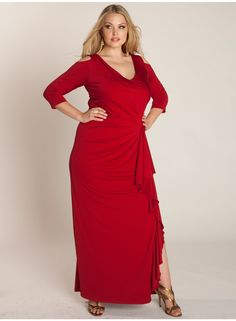 Red Sexy slightly flared skirt #IGIGI_Margarita specially made for #PlusSize  $250.00