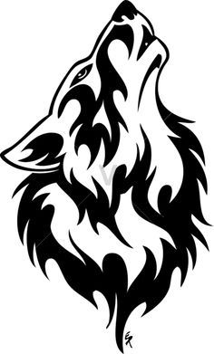 flame wolf line tattoo - Google Search